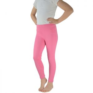 HyPerformance Children's Georgia Silicone Knee Riding Tights - Pink
