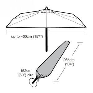 Garland Giant Parasol Cover - Black