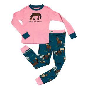 LazyOne 'Pasture Bedtime' Kids PJ Set – Pink/Blue