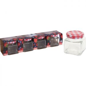 Excellent Houseware Glass Jar with Metal Lid, 75ml -  Pack of 4