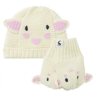 Joules Baby Chummy Character Hat & Glove Set – Sheep