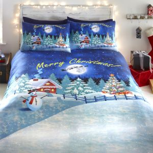 Bedlam Glow in the Dark Duvet Set, Royal Blue