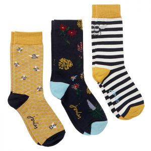 Joules Women's Brill Bamboo Socks, Pack of 3 – Gold Bee