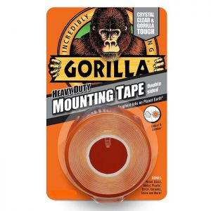 Gorilla Mounting Tape, 1.52m - Clear
