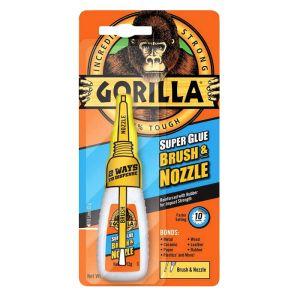 Gorilla Super Glue Brush & Nozzle - 10g