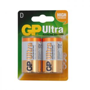 GP Ultra D-Cell Battery - 2 Pack