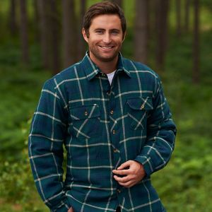 Champion Men's Totnes Quilted Padded Shirt - Green