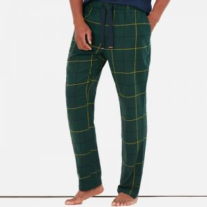 Joules Men's The Sleeper Lounge Trousers – Green Check