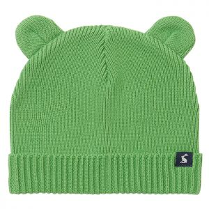 Joules Baby Cub Cotton Ribbed Hat – Green