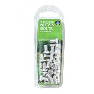 Garland Greenhouse Nut & Bolt Cross Head - 15 Pack
