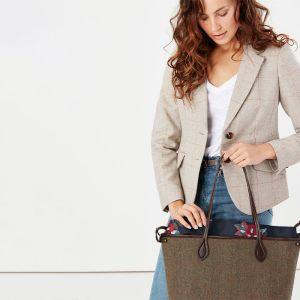 Joules Adeline Tote Shopper Bag – Tweed