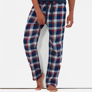 Joules Men's The Sleeper Lounge Trousers – Grey Marl Check