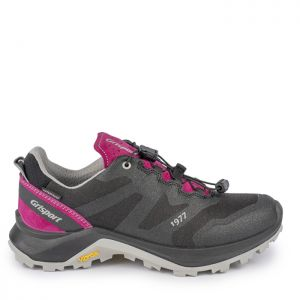 Grisport Women's Apache Low Walking Shoes – Black / Pink
