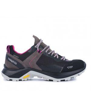 Grisport Women's Trident Low Walking Shoes – Grey / Pink
