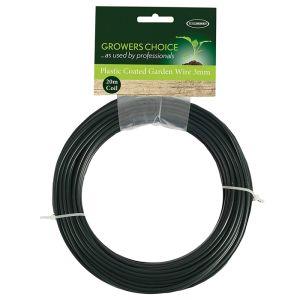 Tildenet 3mm Plastic Coated Garden Wire - 20m