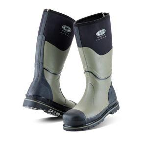 Grubs Men's Ceramic 5.0 Safety Wellington Boots - Black/Grey