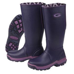 Grub's Ladies Rainline Wellington Boots - Aubergine