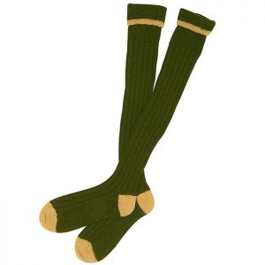 Barbour Contrast Gun Stockings - Olive/Gold