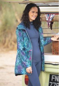 Shires Aubrion Women's Hackney Rain Jacket - Tropical