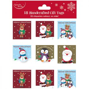 Handcrafted Character Gift Tags - 18 Pack