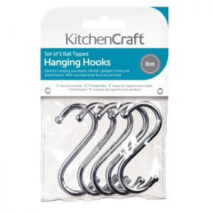 KitchenCraft 'S' Hooks, 8cm - Pack of 5