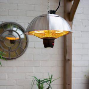 La Hacienda Silver Series Hanging Mushroom Heater - 1500W