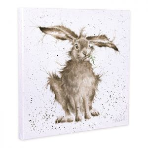 Wrendale Designs 'Hare-Brained' Canvas – 20cm