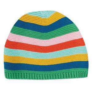 Frugi Baby Harlen Knitted Hat – Multi Rainbow Stripe