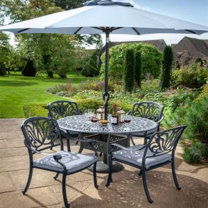 Hartman Amalfi 4 Seater Round Garden Furniture Set with Parasol