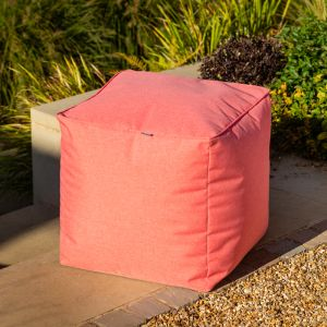 Hartman Outdoor Pouffe - Red Coral