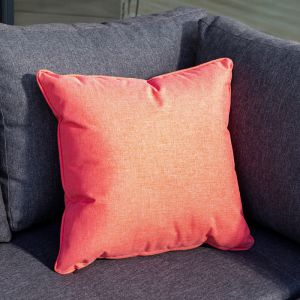 Hartman Square Scatter Cushion - Red Coral