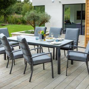Hartman Vienna Rectangular Dining Set with Parasol - 8 Seater