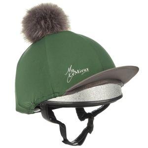 LeMieux Faux Pom Pom Hat Silk - Hunter Green
