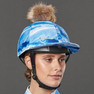 Weatherbeeta Marble Hat Silk – Blue
