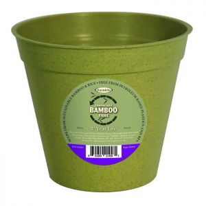 "Haxnicks Compostable Bamboo 8"" Plant Pot – Sage Green"