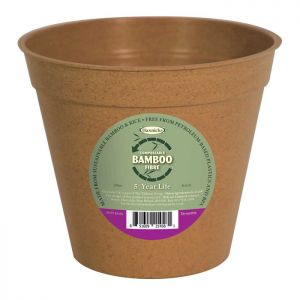 "Haxnicks Compostable Bamboo 8"" Plant Pot – Terracotta"