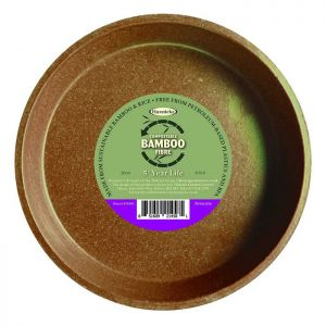 "Haxnicks Compostable Bamboo 8"" Plant Saucer - Terracotta"