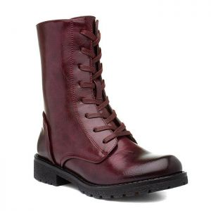 Heavenly Feet Women's Chloe Lace-up Boots – Burgundy