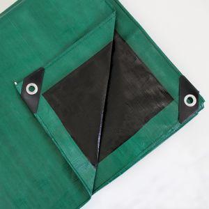 Heavy-Duty Green & Black Reversible Tarpaulin, 200gsm – 5m x 6m