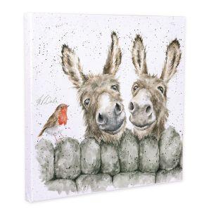 Wrendale Designs 'Hee Haw' Canvas - 20cm