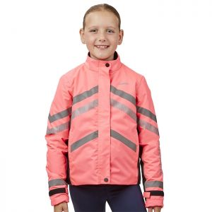 Weatherbeeta Reflective Children's Heavy Padded Waterproof Jacket – Pink