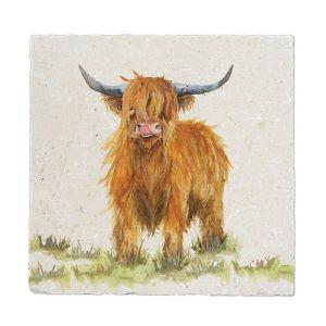 Kate of Kensington Large Marble Platter - Highland Cow