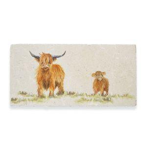 Kate of Kensington Marble Sharing Platter - Highland Cow