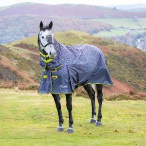 Highlander Original 200 Turnout Combo Rug - Grey Leopard