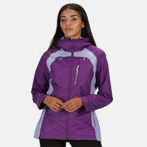 Regatta Women's Highton Stretch II Waterproof Hooded Walking Jacket – Plum Jam Lilac