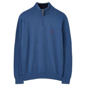 Joules Men's Hillside 1/4 Zip Funnel Neck Jumper - Ink Blue