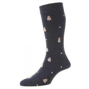 HJ Hall Men's Novelty Socks, Snowmen – Navy