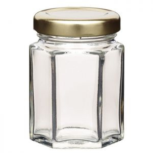 Home Made Hexagonal Jar with Twist-off Lid - 12oz