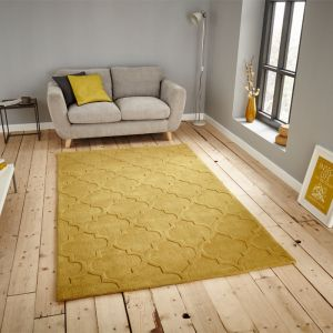 Hong Kong 8583 Rug, Yellow - 120cm x 170cm