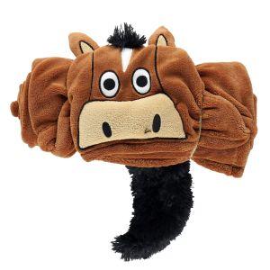 LazyOne Hooded Critter Fleece Blanket – Brown Horse